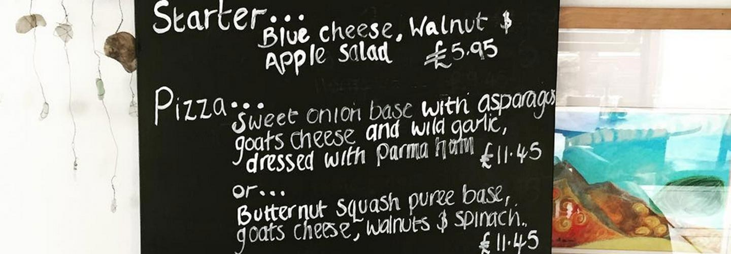 Image: specials menu from the Wild Olive restaurant